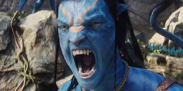 Avatar Jake shouting in his Na'vi form