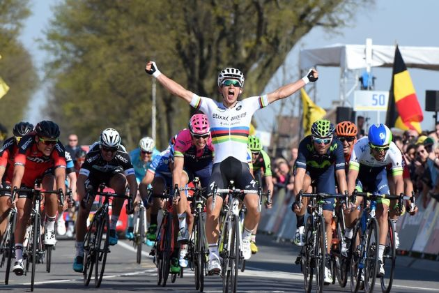 ... Kwiatkowski wins the 2015 Amstel Gold Race. Photo: Graham Watson