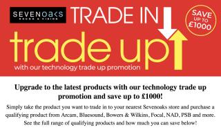 Sevenoaks trade in trade up promotion