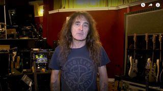 Steve Harris in the studio