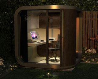 The new Brit-designed OfficePOD - next gen shed working!