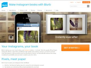 Instagram Blurb website