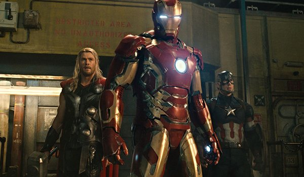 Thor, Iron Man and Captain America as The Avengers