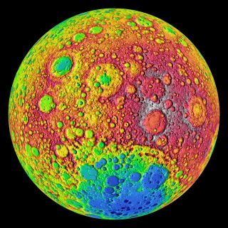 Tidal forces between the moon and the Earth have slowed the moon's rotation so that one side of the moon always faces toward our planet. Though several spacecraft have imaged the far side of the moon before, NASA's Lunar Reconnaissance Orbiter is providin