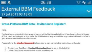 BlackBerry for Android beta