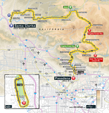 Rancho Cordova On California Map.Tour Of California 2019 Route Guide Cycling Weekly