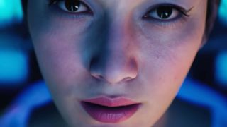 A face designed with UE5's MetaHuman Creator