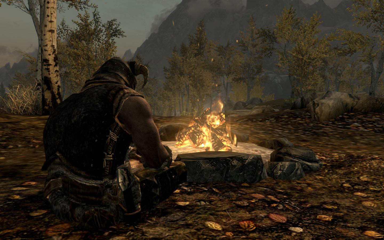 the best skyrim mods: campfire