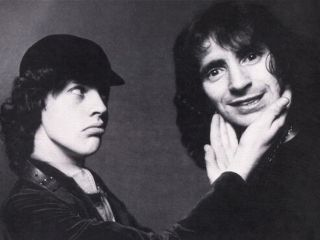 Angus Young and Bon Scott: great Scots