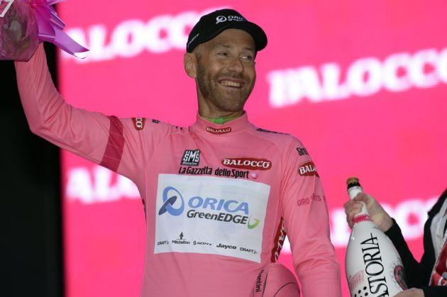 Svein Tuft on stage one of the 2014 Giro d'Italia