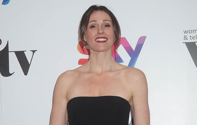 Suranne Jones dressed in black at red carpet event