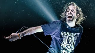 Lamb Of God's Randy Blythe onstage