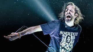 Lamb Of God's Randy Blythe onstage