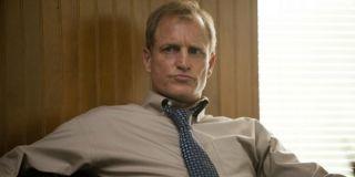 Woody Harrelson sat in a chair