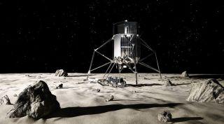 Japanese lunar lander art