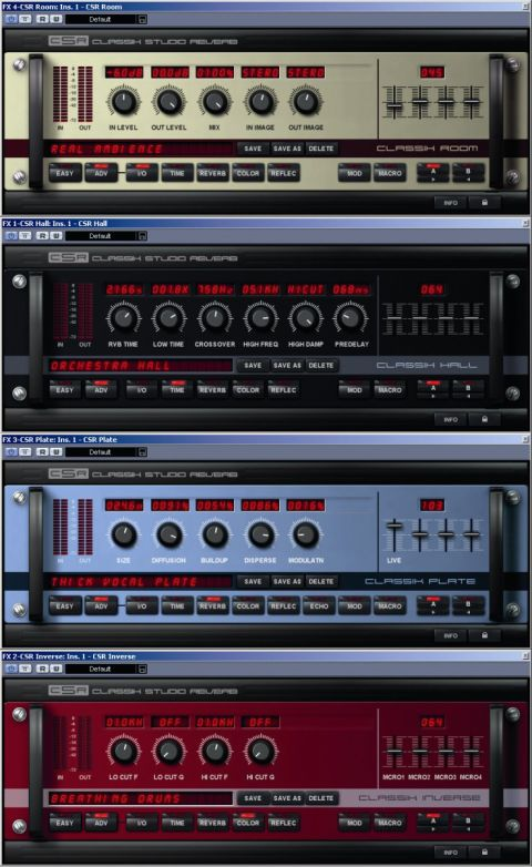 Four classic style reverbs in one!