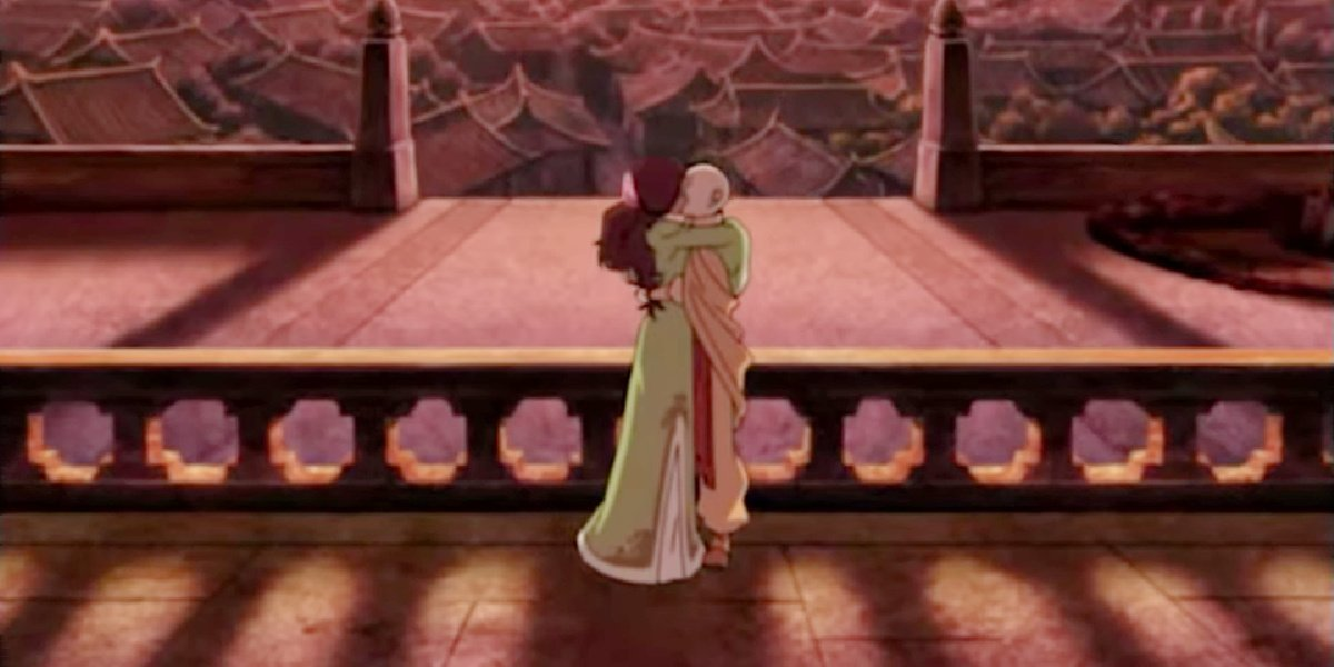 Aang and Katara in Avatar: The Last Airbender.