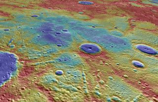 The magnetic field of Mercury is 4 billion years old according to data from NASA's MESSENGER spacecraft, which orbited the planet from 2011 to 2015. This MESSENGER image shows a view of Mercury's Suisei Planitia region (the blue colors), where MESSENGER d
