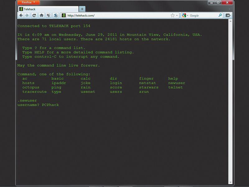 Hack virtual 1980s networks with Telehack | TechRadar