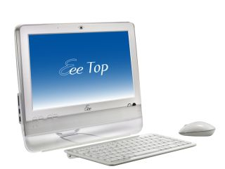 The Eee Top 1602 offers touchscreen control.