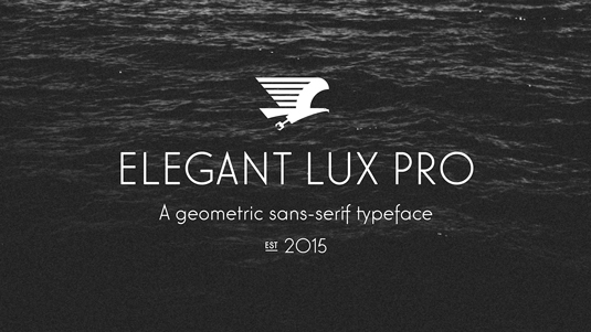Font of the day: Elegant Lux pro