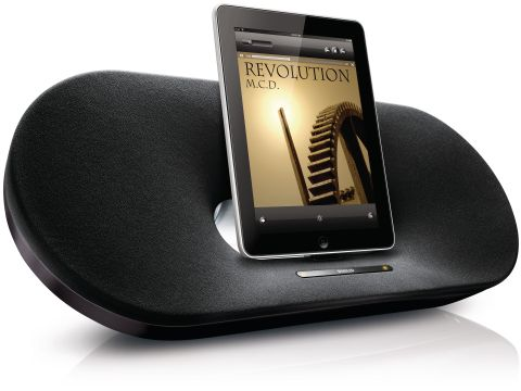 The Philips DS9010 Fidelio speaker dock works for iPods, iPads and iPhones