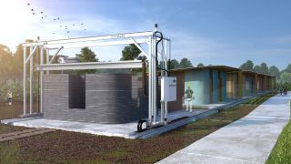 3D printers make building homes more economic for the developing