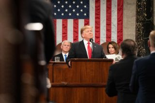 President Donald Trump during the 2019 State of the Union address