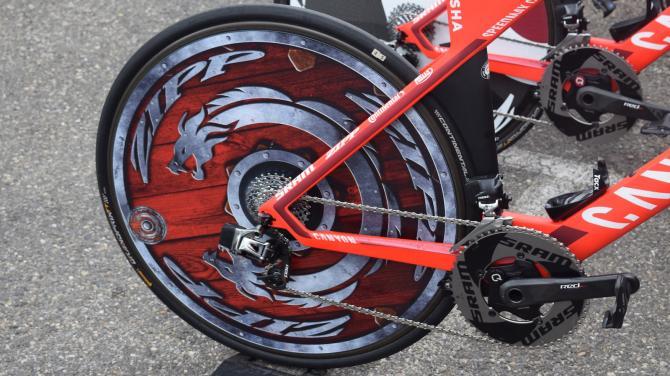 Alexander Kristoff's custom rear Zipp wheel