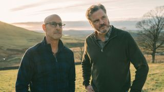 Stanley Tucci and Colin Firth in 'Supernova'.