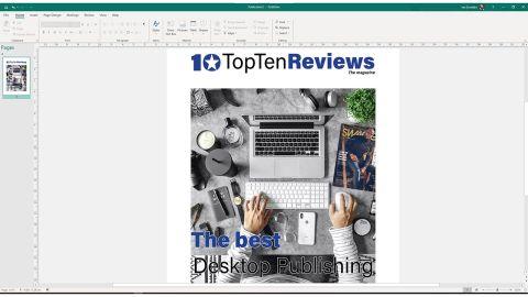 Microsoft Publisher interface