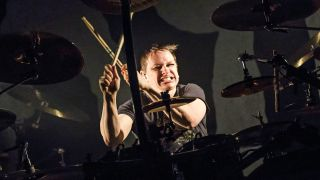 Ray Luzier gets to work