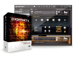 Kontakt 4 ships with a 44GB library.
