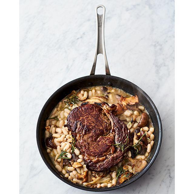 Jamie Oliver 5 ingredients quick and easy recipes rib eye steak