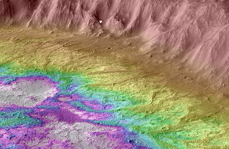 Strange crater suggests ancient Mars may have been frigid with occasional snowmelt