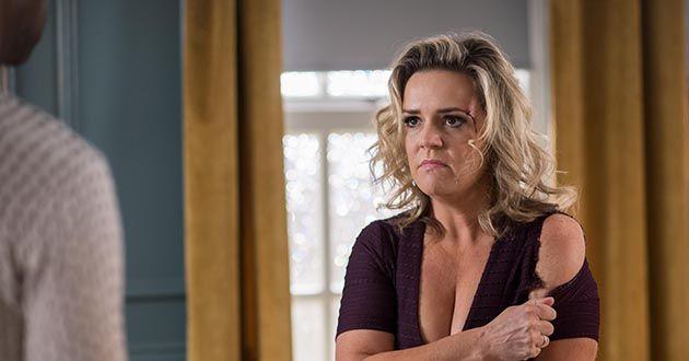 Joanne Cardsley frames Louis Loveday in Hollyoaks
