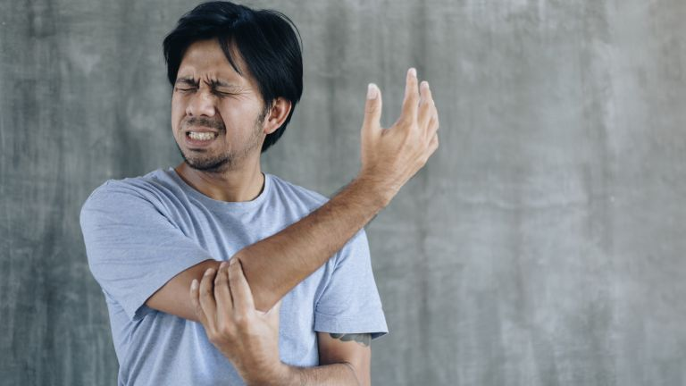 Man suffering from inflammation