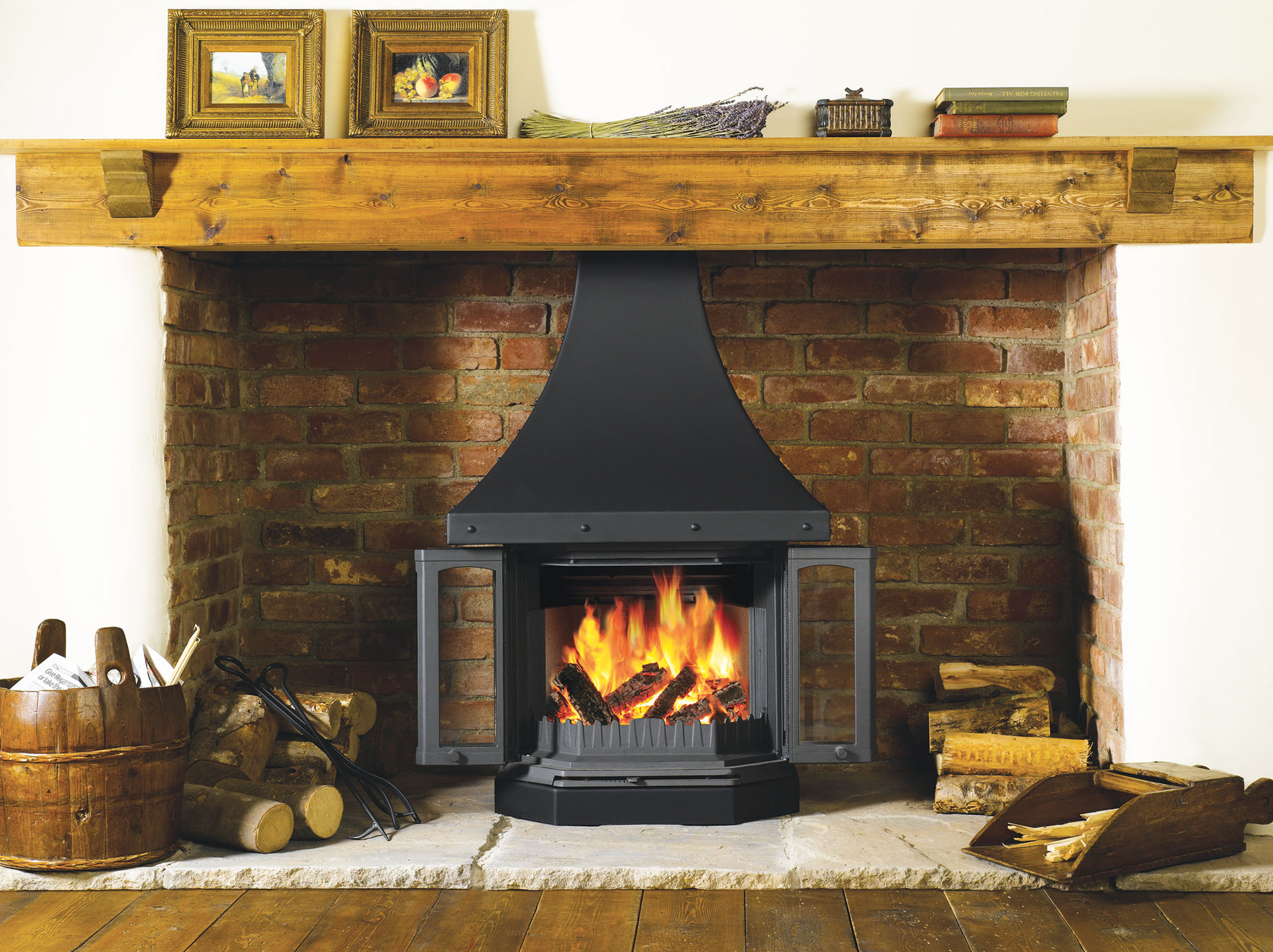 how to use a woodburner real homes