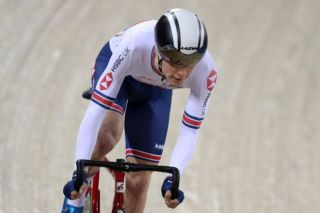 Great Britain's Fred Wright on the track