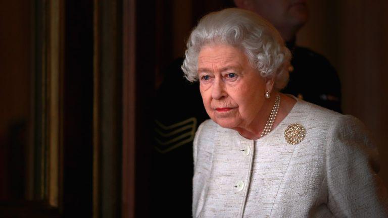 Queen looks reflective