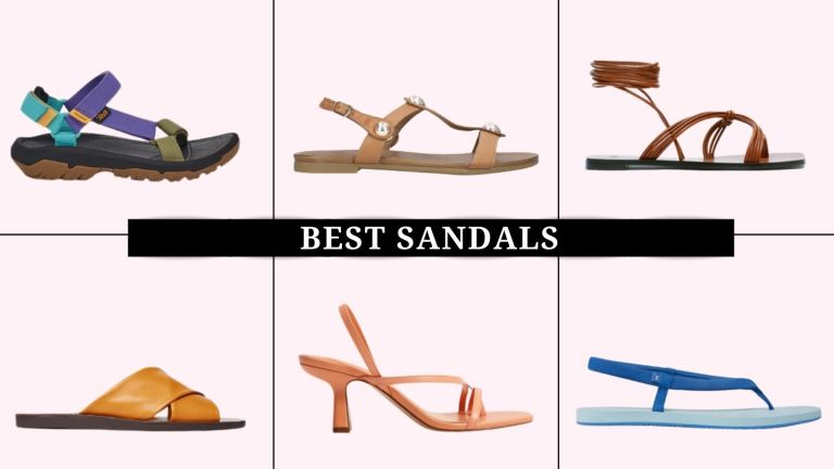 collage of the best sandals