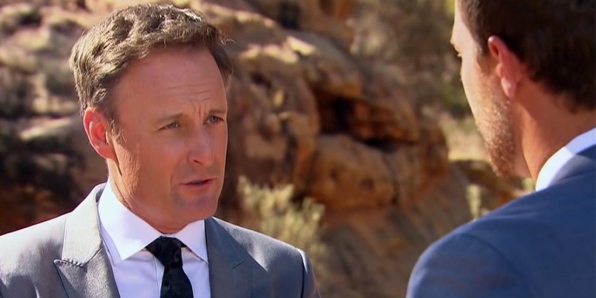 The Bachelor 2020 Chris Harrison tells Peter Weber something at final rose ceremony in Australia ABC