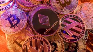 Bitcoin, Ethereum, and other cryptocurrencies as physical coins, because that's more tangible or something