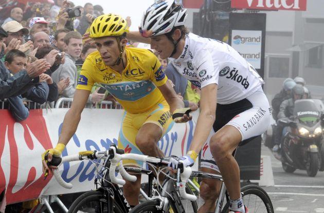 Andy Schleck and Alberto Contador, Tour de France 2010, stage 17