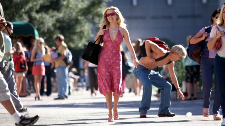 """Actress Reese Witherspoon acts in a scene from Metro-Goldwyn Mayer Pictures'' comedy """"Legally Blonde."""""""