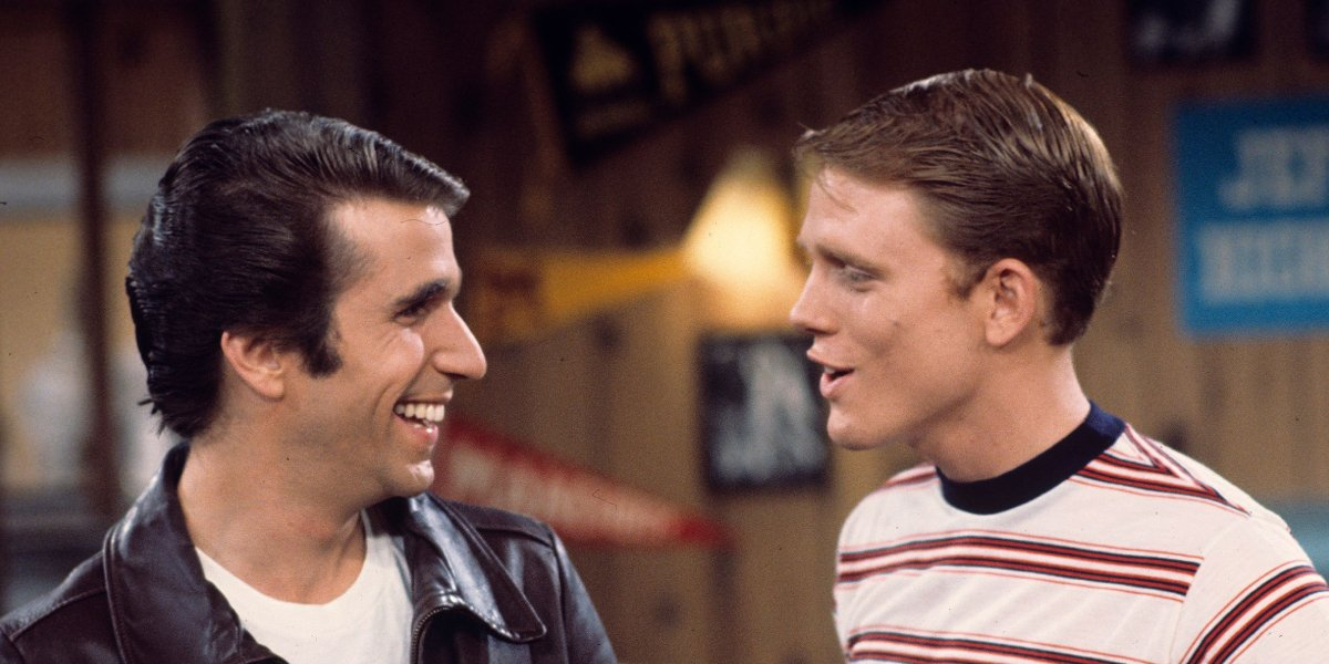 Henry Winkler and Ron Howard on Happy Days