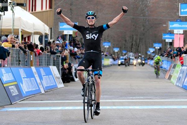 Chris Froome wins stage four, Tirreno-Adriatico 2013