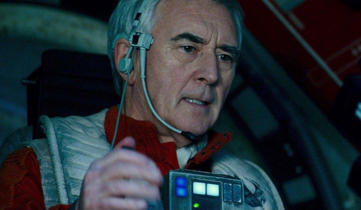 Star Wars: The Rise of Skywalker Wedge Antilles operating a gun turret