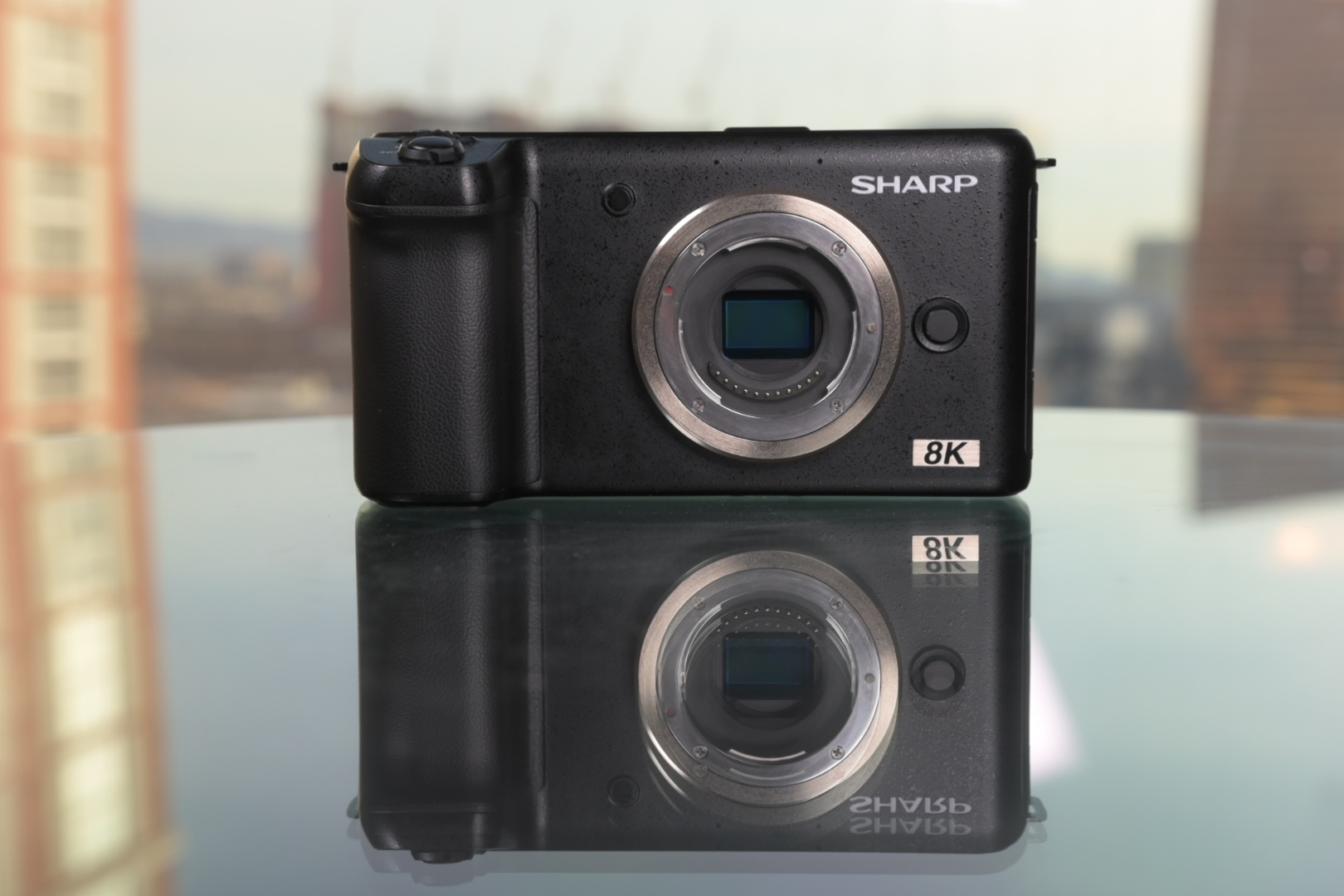 Sharp 8K Video Camera: 33MP Micro Four Thirds sensor, 10-bit 8K at 30fps