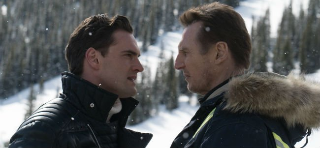 Liam Neeson in a face off in Cold Pursuit